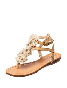 Olivia Miller Ivory Flat Sandals Flip Flops