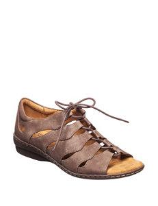 Natural Soul Dark Brown Flat Sandals