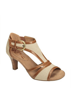 A2 by Aerosoles Tan Heeled Sandals Comfort