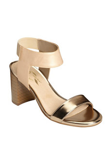 A2 by Aerosoles Gold Heeled Sandals Comfort