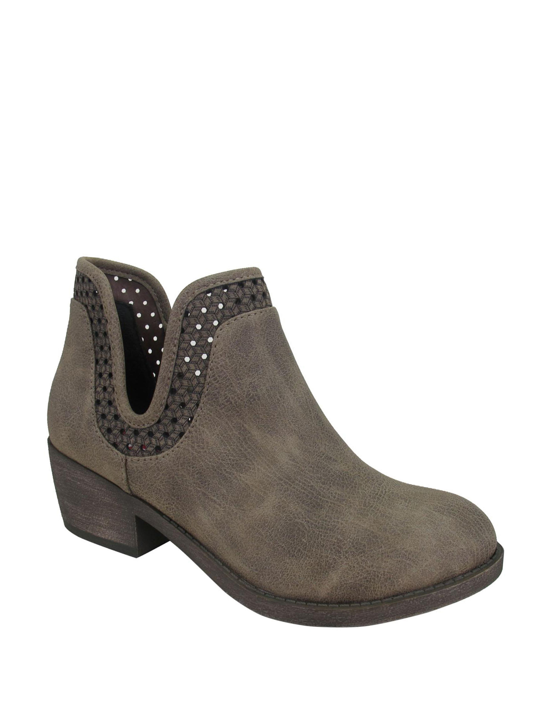 Jellypop Brown Ankle Boots & Booties