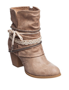 Jellypop Beige Ankle Boots & Booties