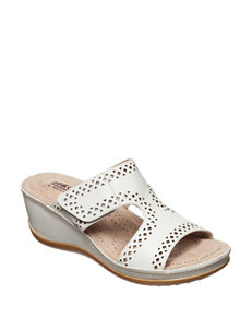 Cliffs White Wedge Sandals