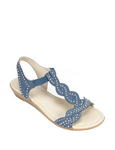 Rialto Denim Flat Sandals