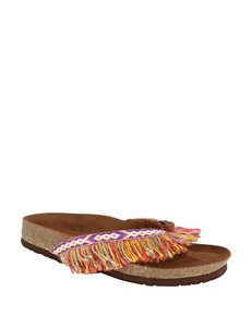 Dolce by Mojo Moxy 600-RED Flat Sandals Flip Flops