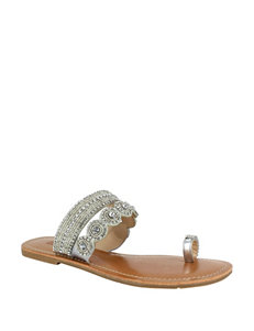 Dolce by Mojo Moxy Silver Flat Sandals