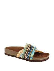 Dolce by Mojo Moxy Turquoise Flat Sandals