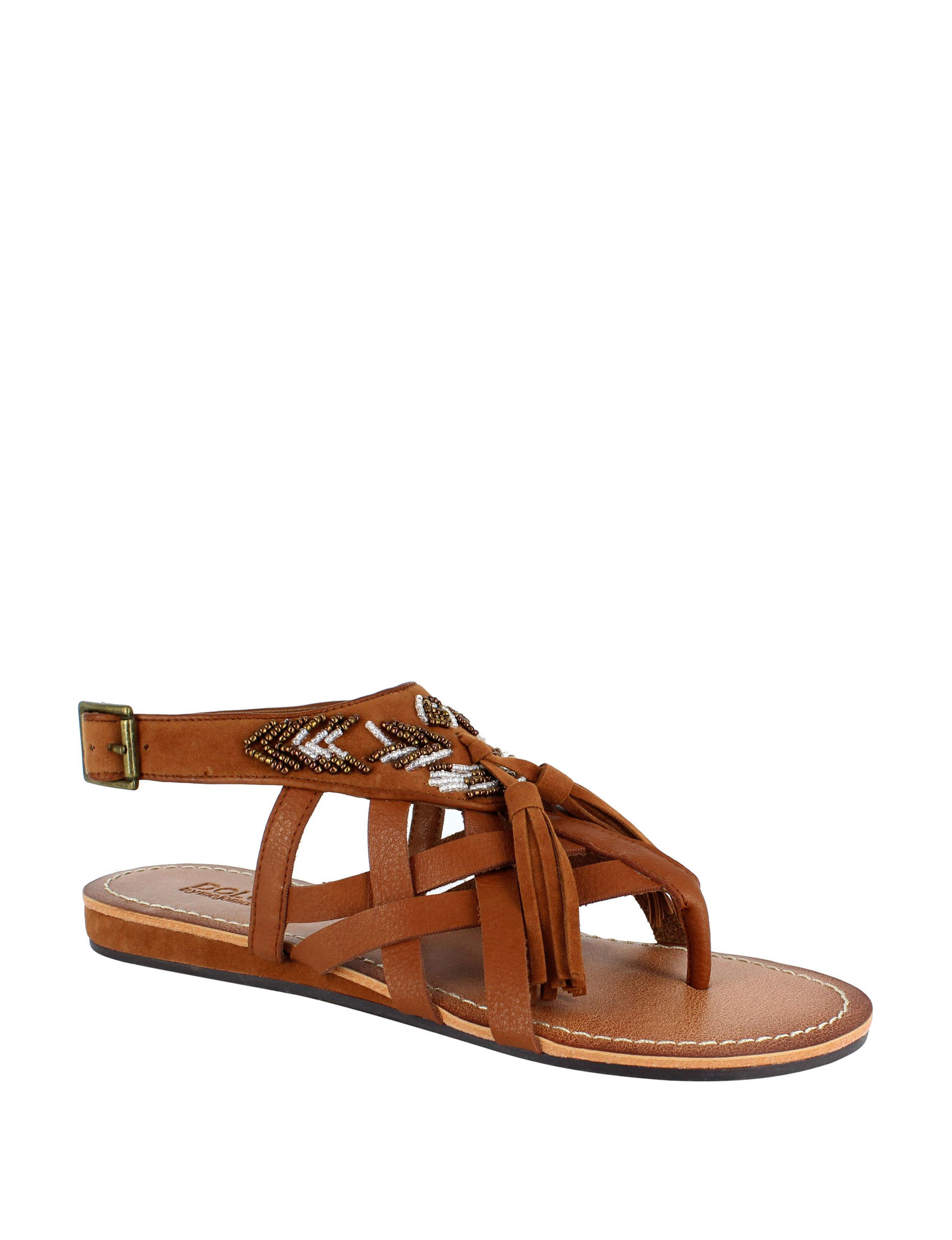Dolce by Mojo Moxy Tan Flat Sandals Gladiators