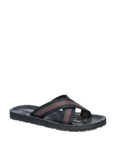 Muk Luks Black Slipper Sandals