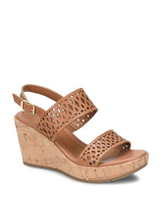 Eurosoft Brown Wedge Sandals