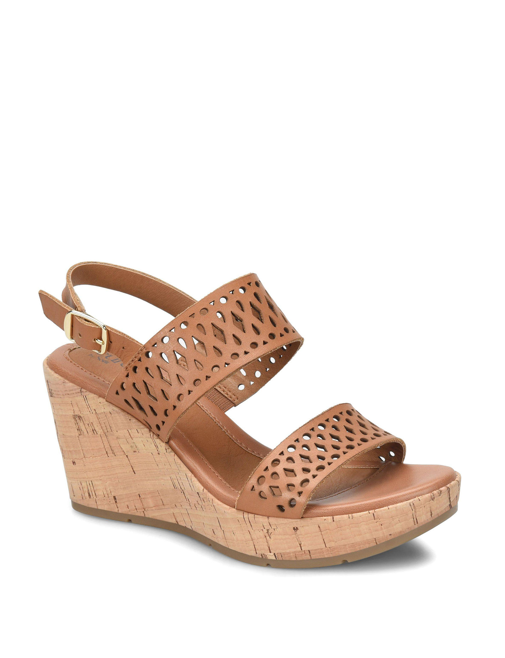 Eurosoft Brown Wedge Sandals