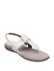 Natural Soul White Flat Sandals