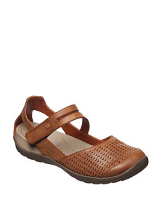 Bare Traps Brown Flat Sandals