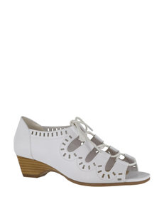 Bella Vita White Heeled Sandals Wedge Sandals