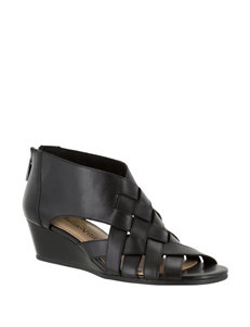 Bella Vita Black Wedge Sandals