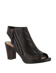 Bella Vita Black Heeled Sandals