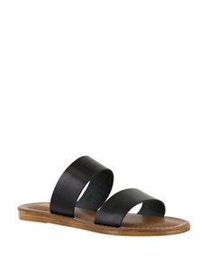 Bella Vita Black Flat Sandals