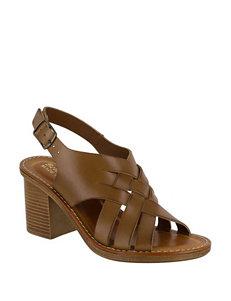 Bella Vita Medium Brown Heeled Sandals