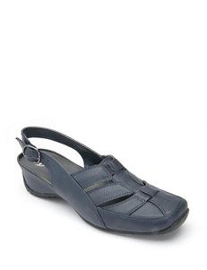 Bellini Navy Flat Sandals