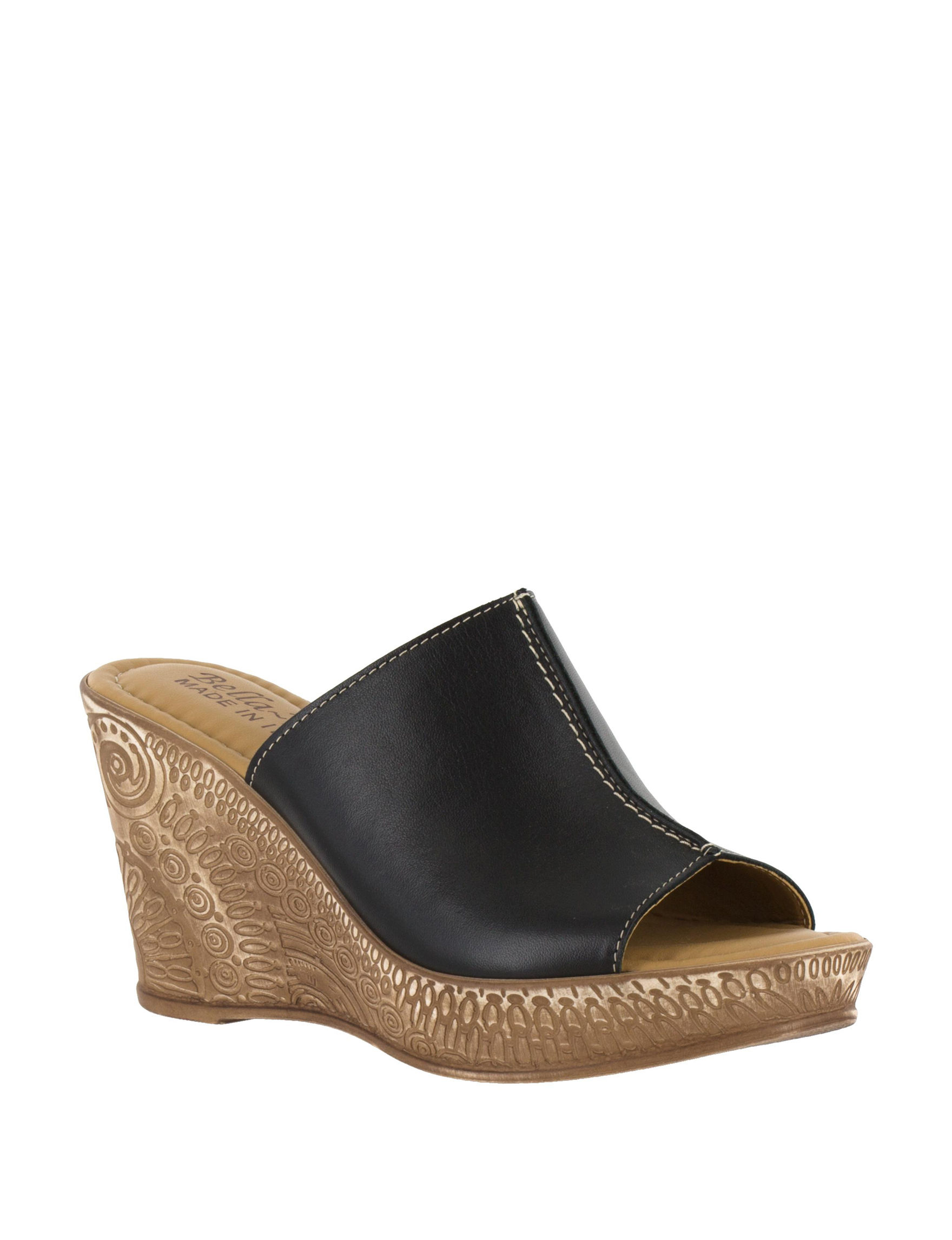 Bella Vita Black Wedge Sandals