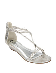 Bellini Silver Wedge Sandals