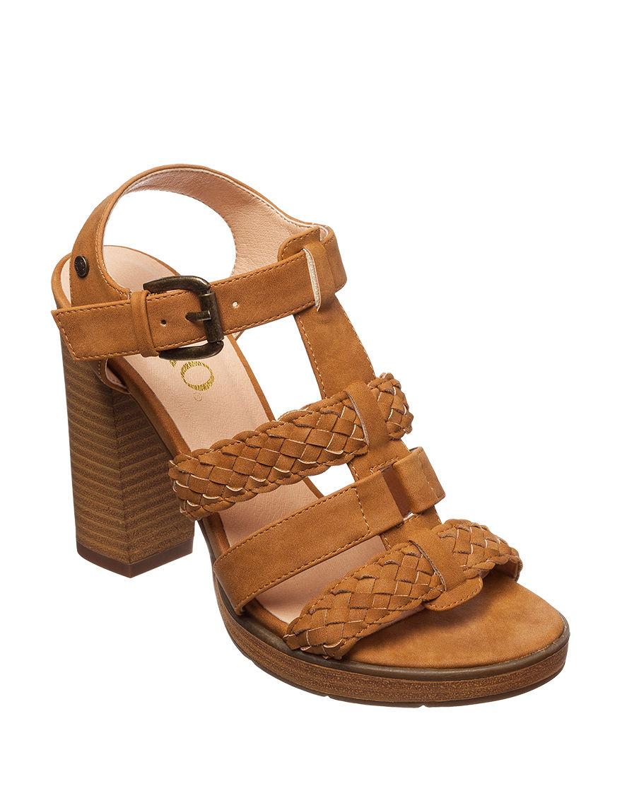XOXO Tan Heeled Sandals