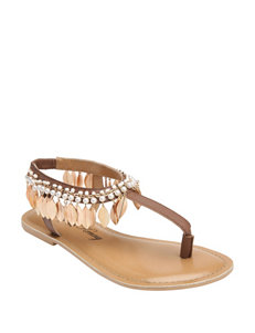 Penny Loves Kenny Natural Flat Sandals