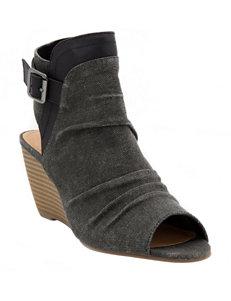 Sugar Black Wedge Sandals