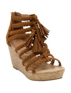 Sugar Beige Wedge Sandals