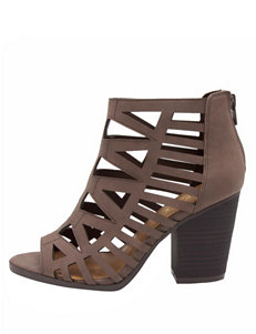 Sugar Brown Heeled Sandals