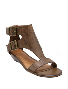 Sugar Brown Wedge Sandals