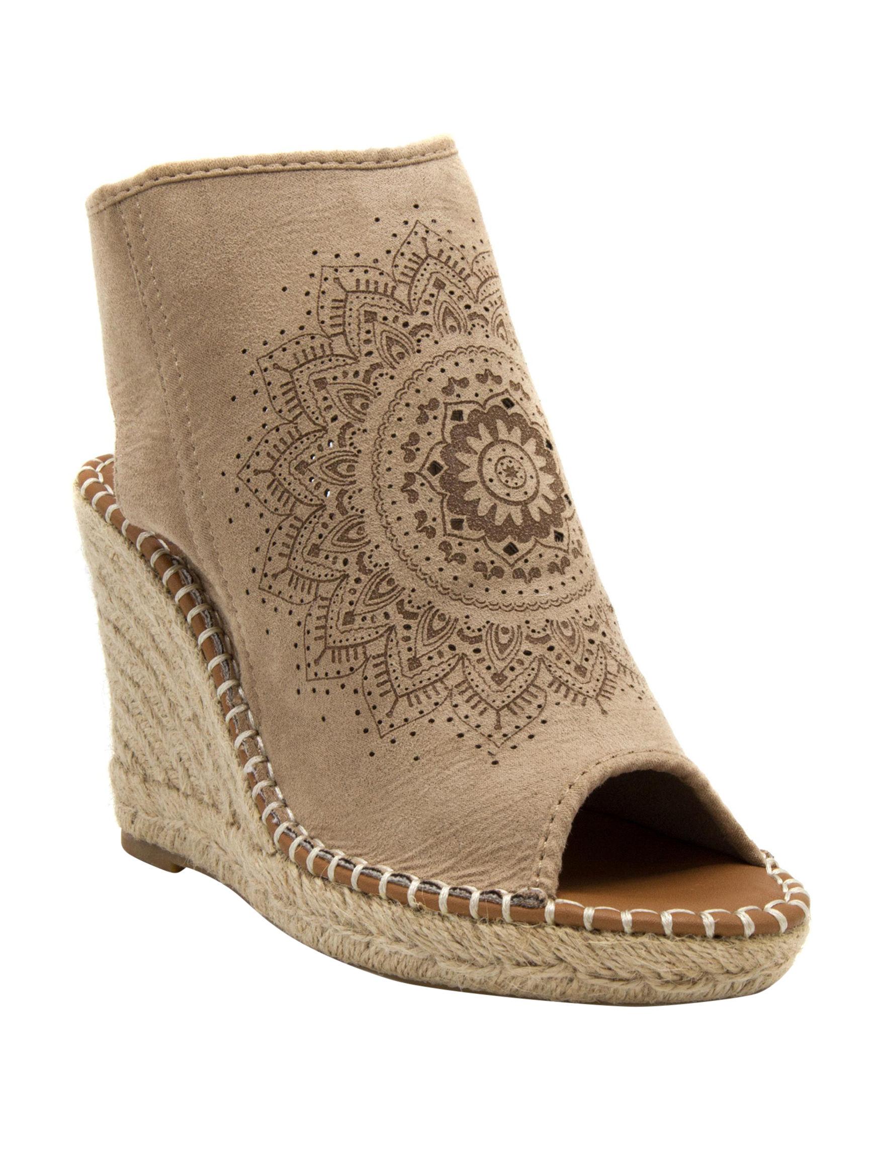 Sugar Natural Wedge Sandals