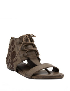 Sugar Brown Flat Sandals