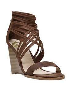 Fergie Tan Wedge Sandals