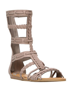 Fergie Brown Flat Sandals Gladiators