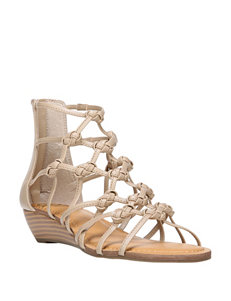 Fergalicious by Fergie Nude Gladiators Wedge Sandals