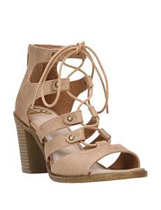 Fergie Brown Heeled Sandals