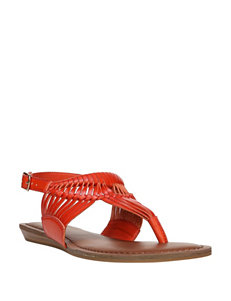Fergalicious by Fergie Red Flat Sandals