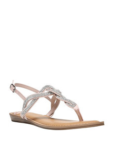 Fergalicious by Fergie Blush Flat Sandals