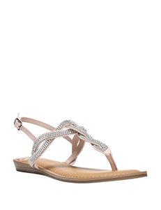 Fergie Blush Flat Sandals
