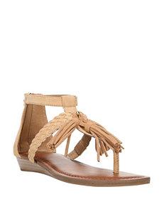 Fergie Orange Flat Sandals