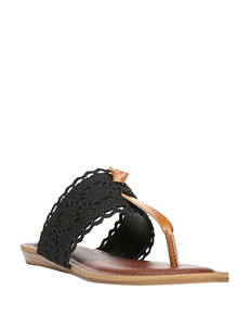 Fergalicious by Fergie Black Flat Sandals