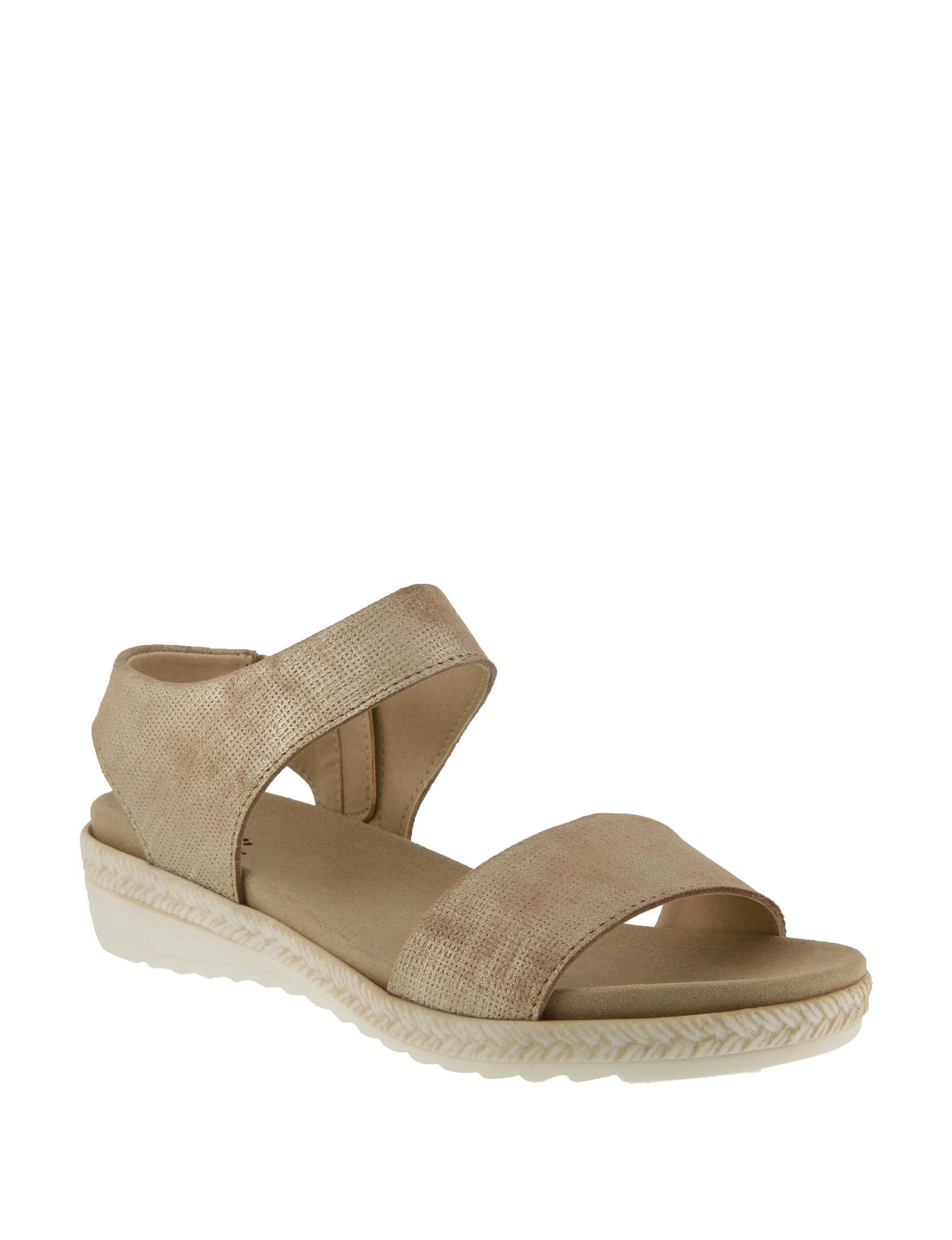 Spring Step Champagne Flat Sandals Comfort
