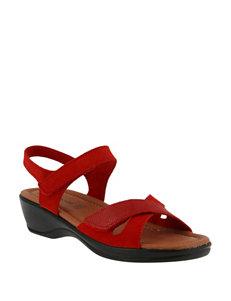 Flexus Red Heeled Sandals