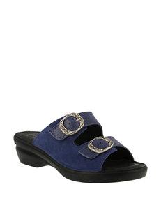 Flexus Blue Heeled Sandals Comfort