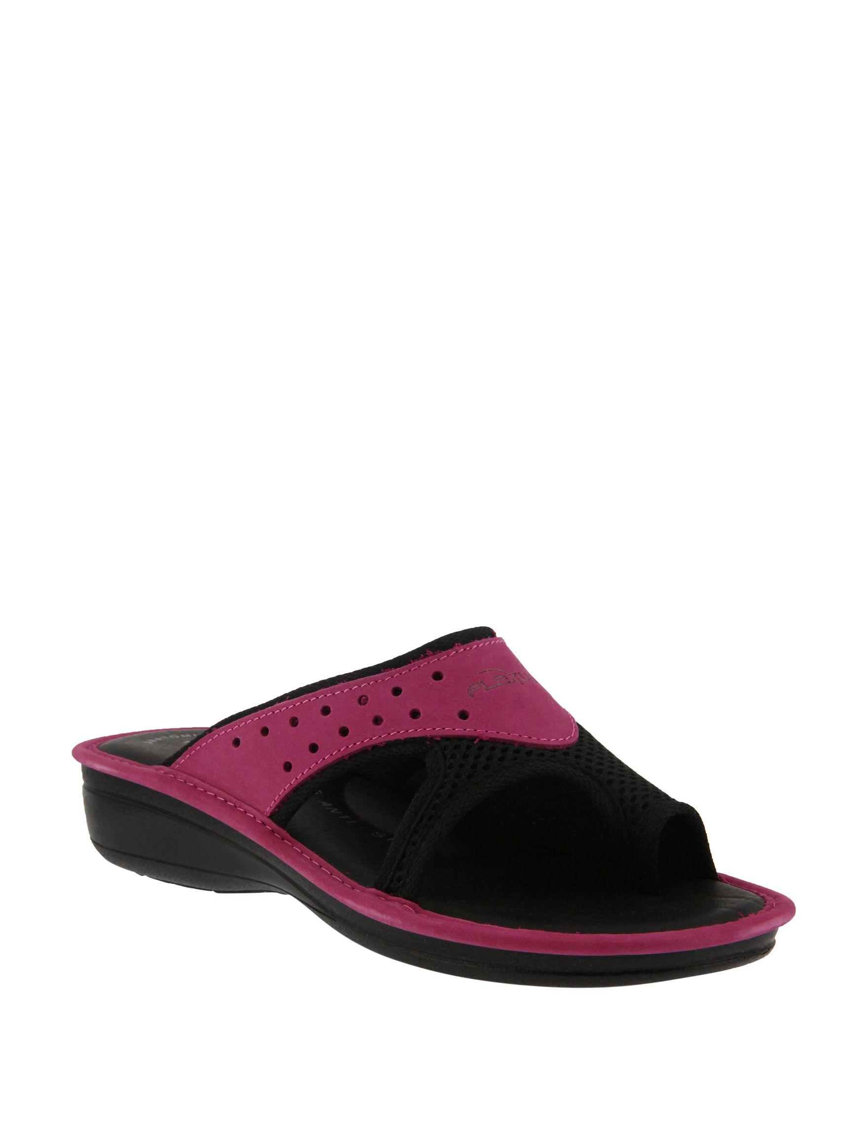 Flexus Fuchsia Flat Sandals