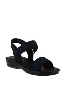 Flexus Navy Flip Flops Sport Sandals Comfort