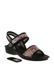 Flexus Fuchsia Heeled Sandals