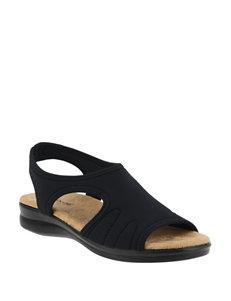 Flexus Black Flat Sandals