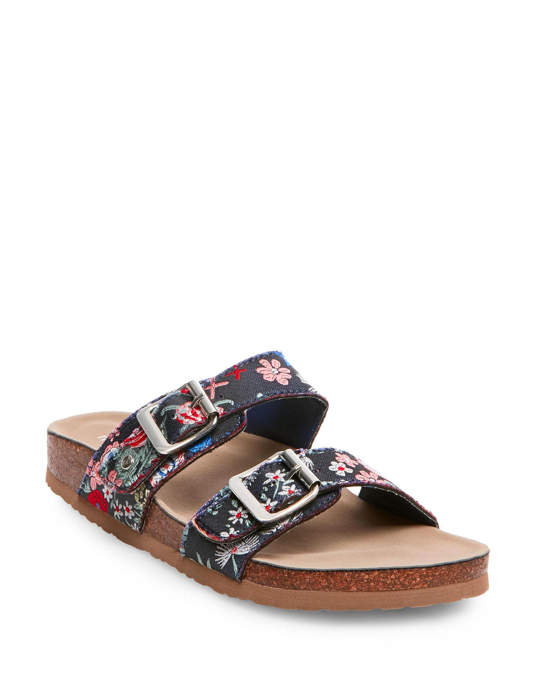 Madden Girl Blue Flat Sandals
